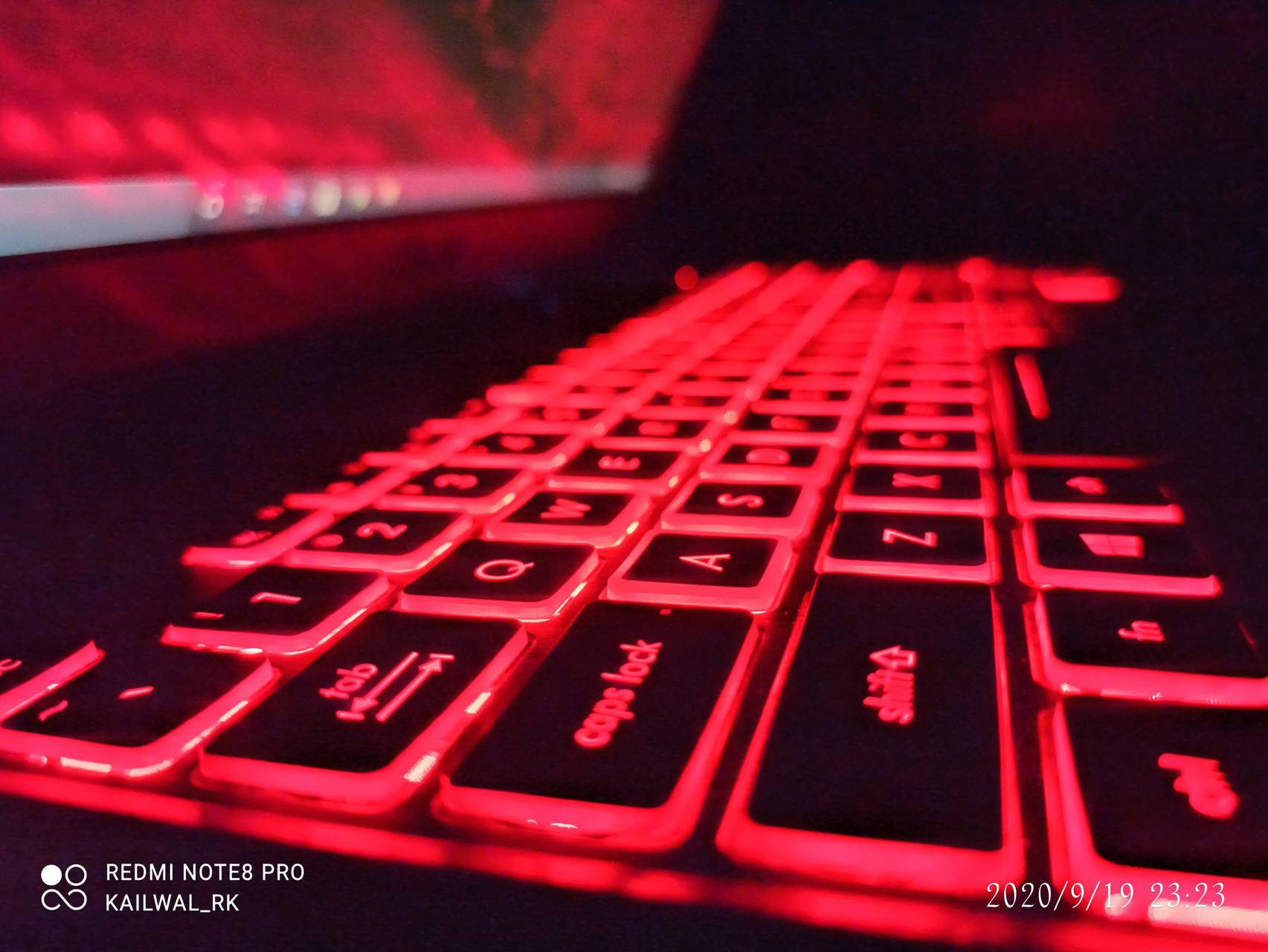 Red pad keyboard