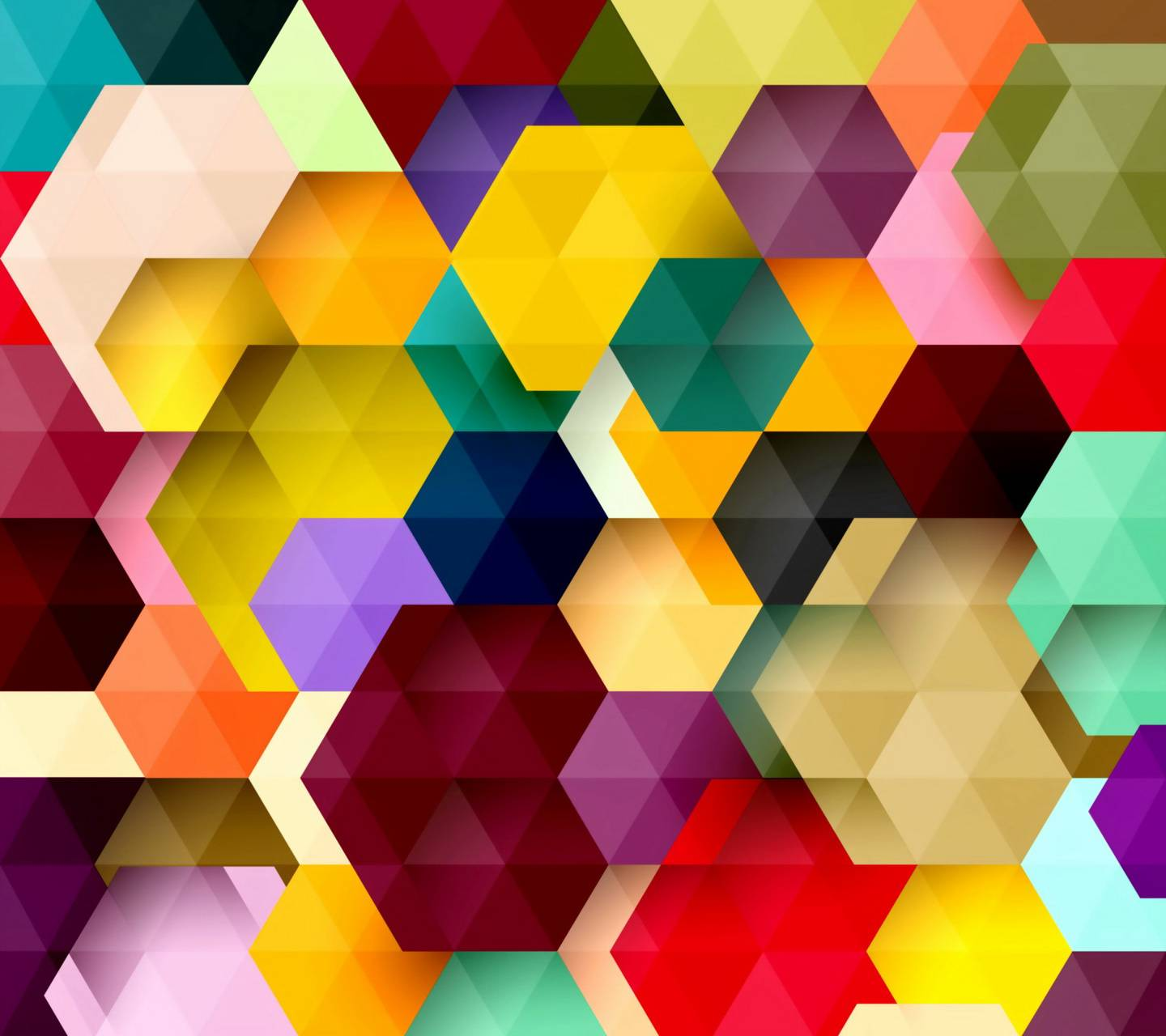 Colored Hexagons