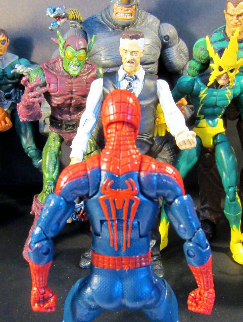 Spider man against