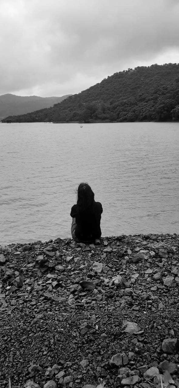 Sad and lonely girl