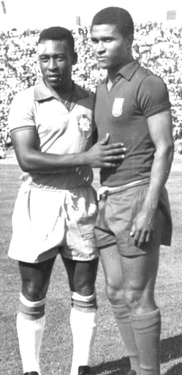 Pele and Eusebio
