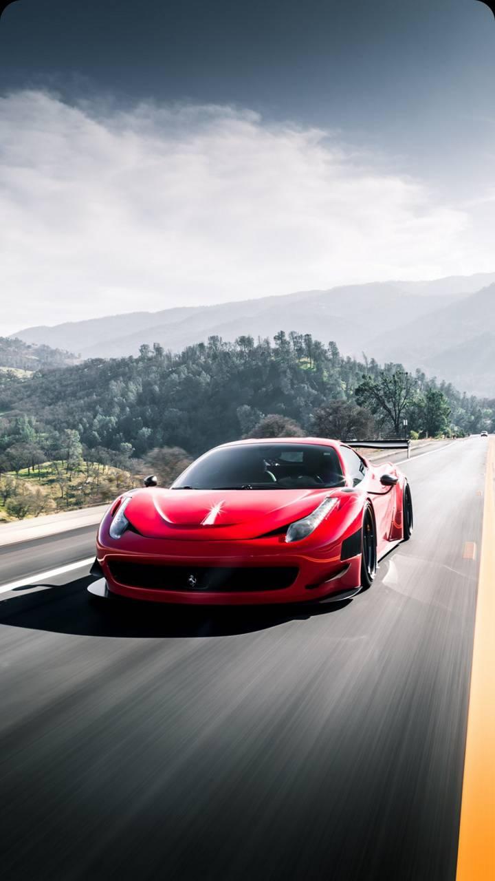 Speeding Ferrari