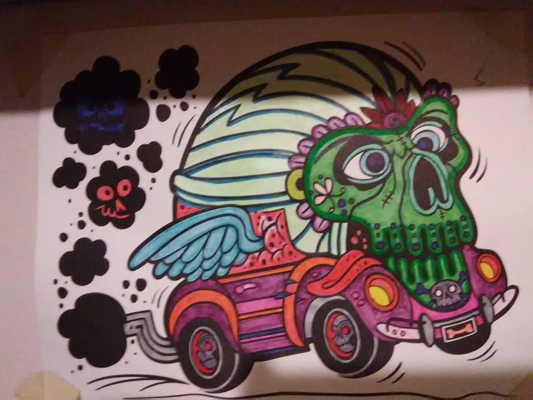 Runaway skull