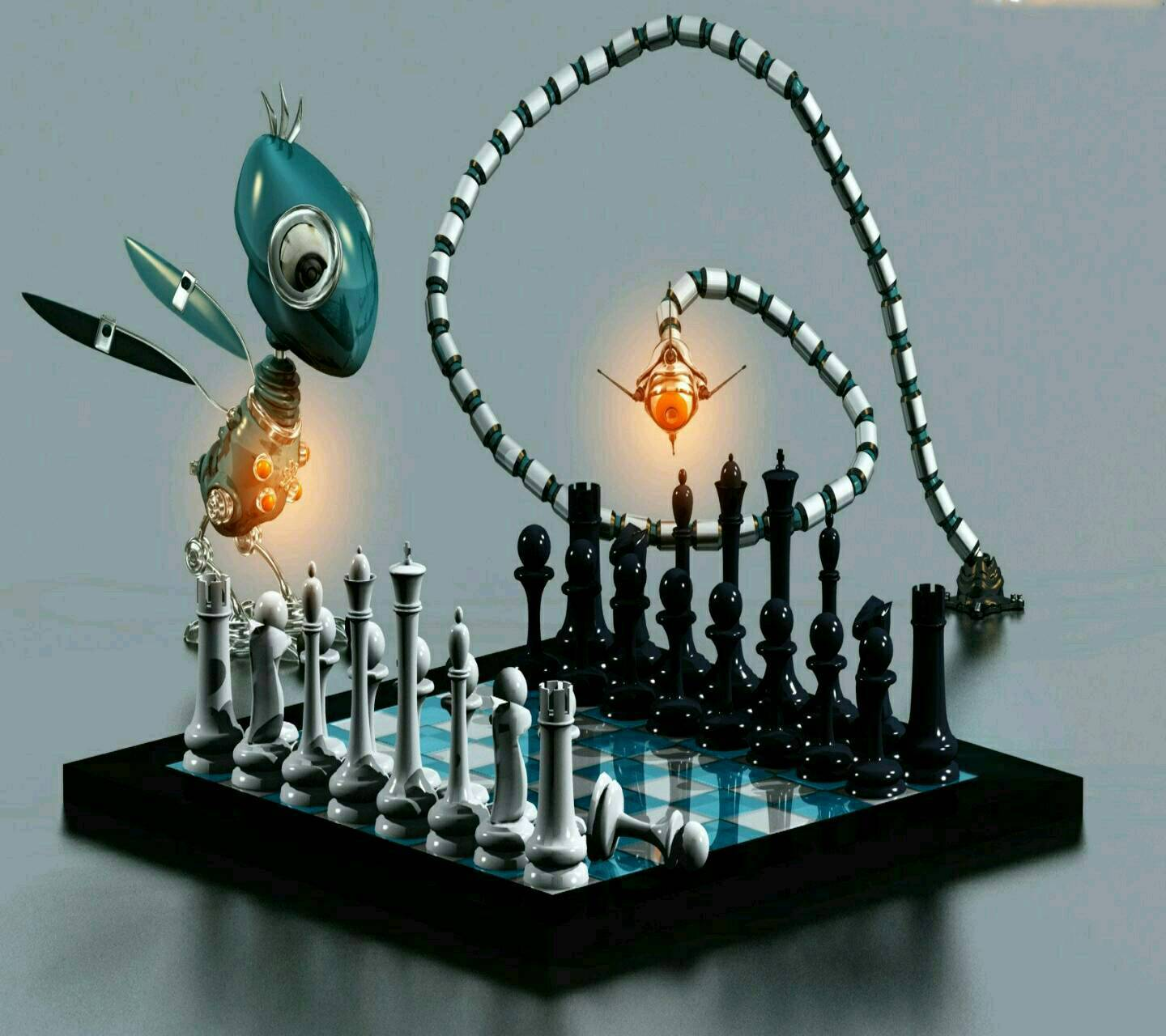 Chess board 3d image