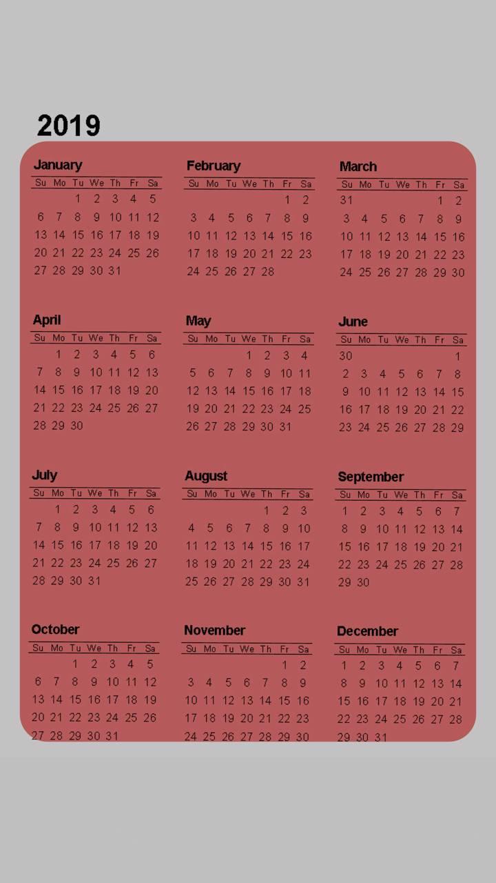 2019 Calendar v5