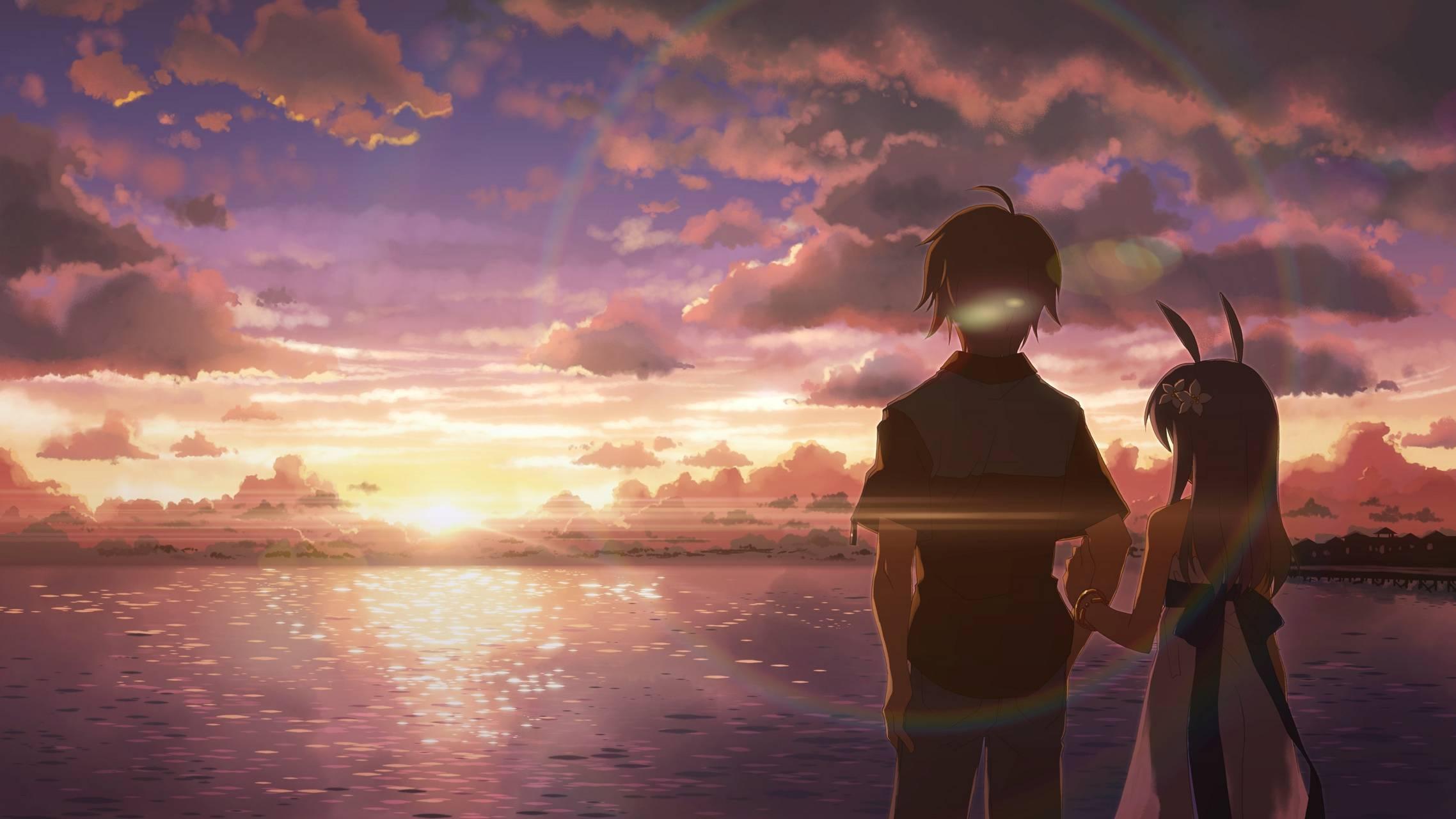 Anime sunset