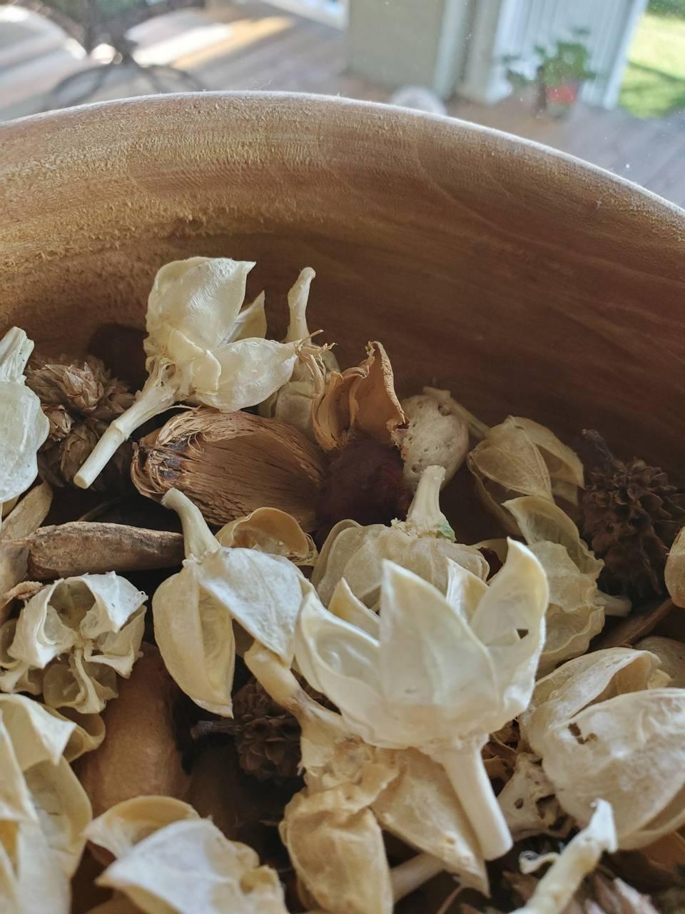 Flowered pot