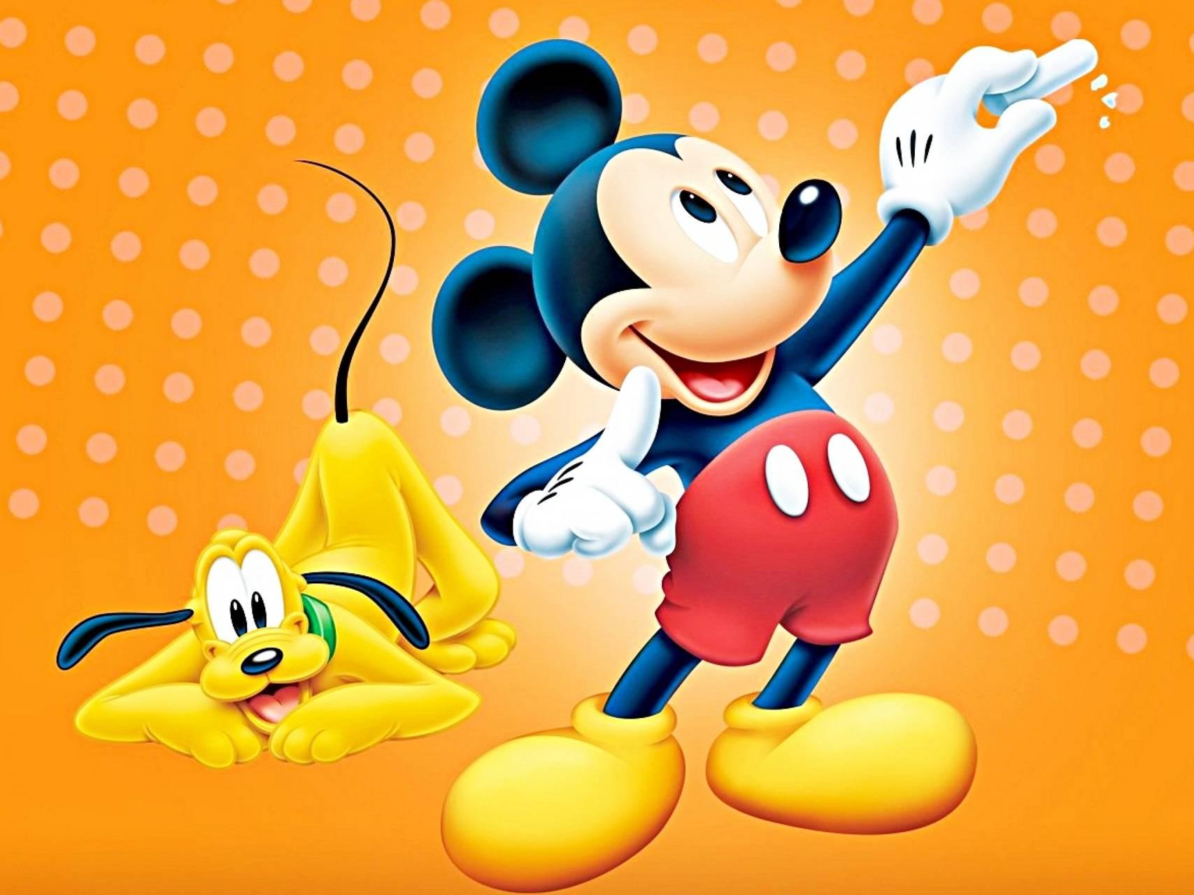 Mickey and Pluto