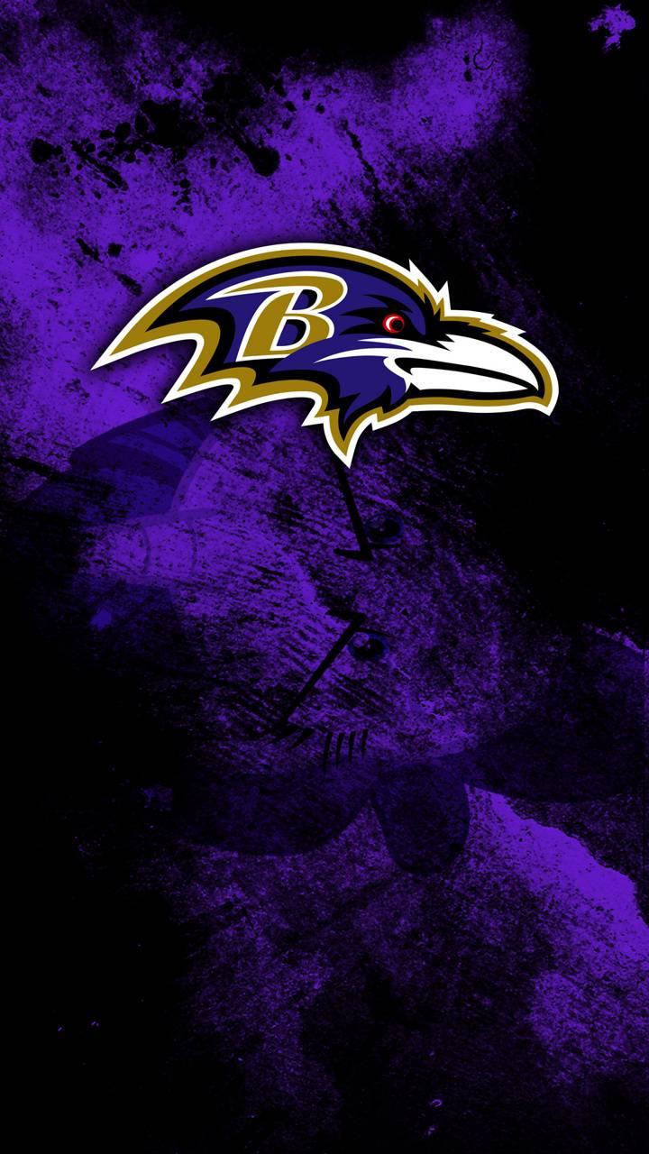 NFL Ravens Grunge
