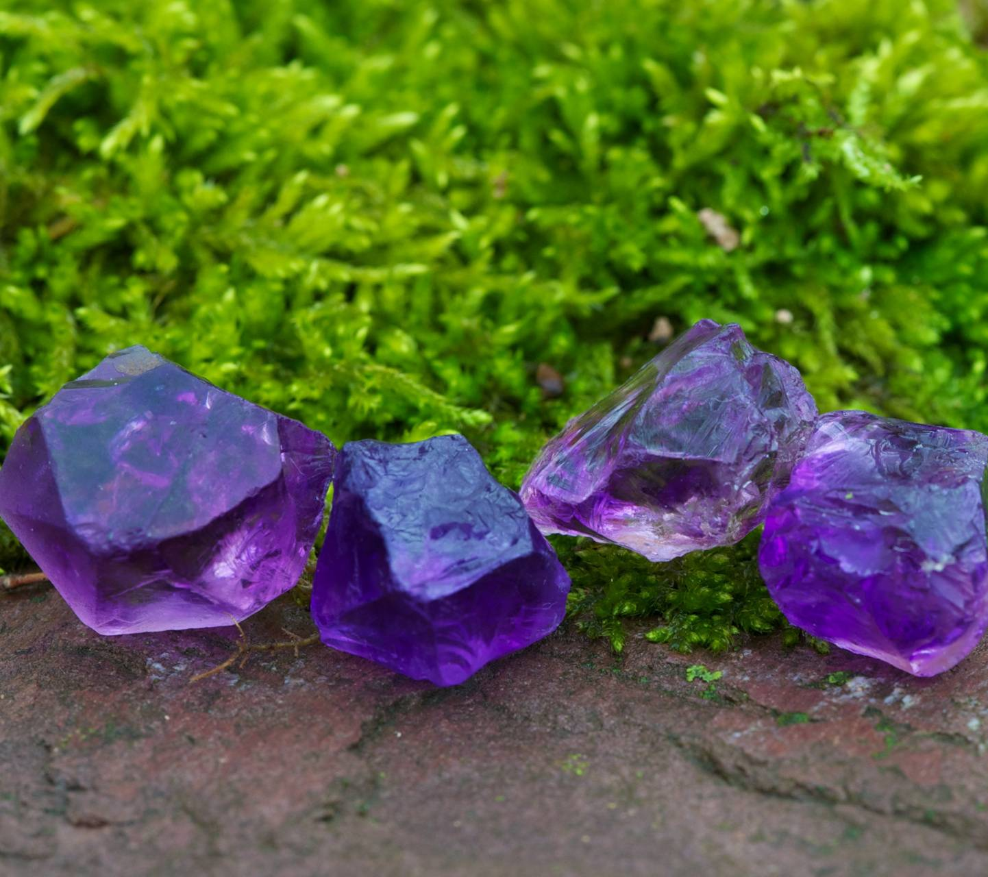 amethyst and moss