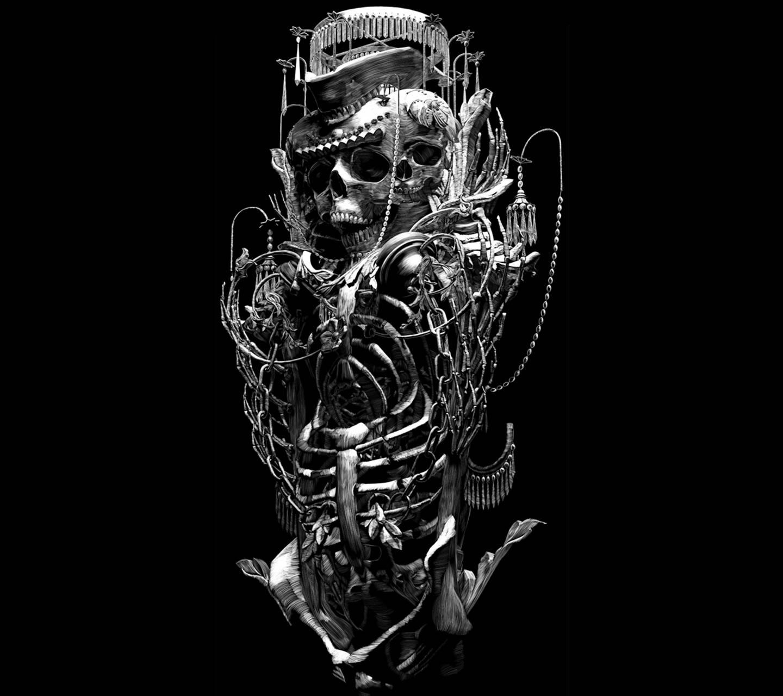 Skull Abstract Music