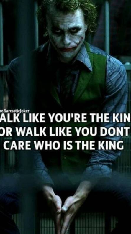 Joker motivation