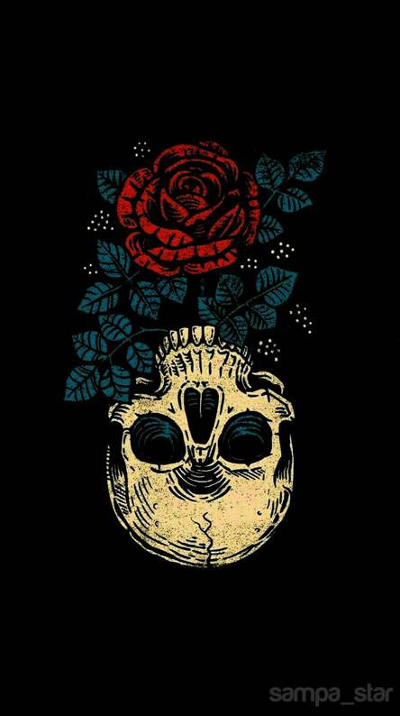 Skull And Roses Wallpapers Free By Zedge