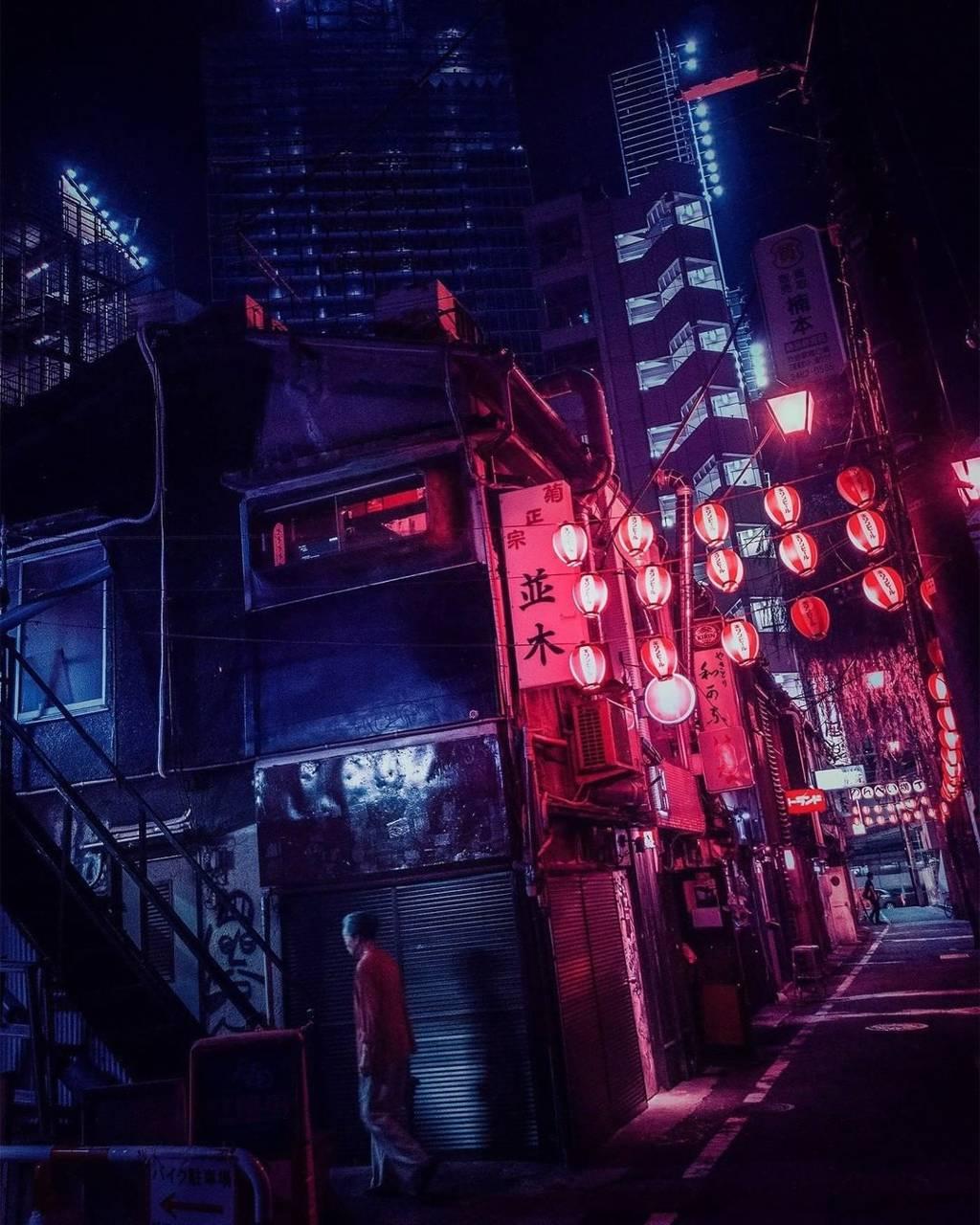 Neon Tokyo night wallpaper by ...