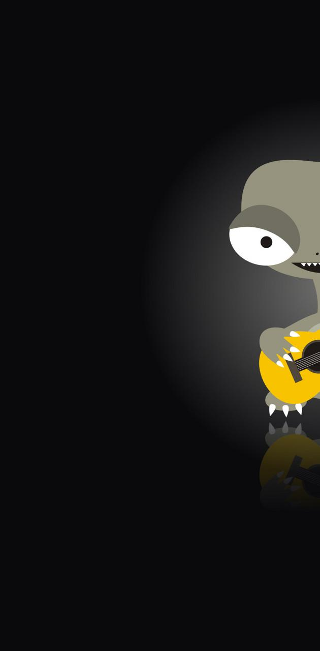 Alien with guitar