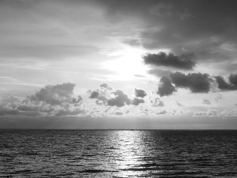 Beach Black White