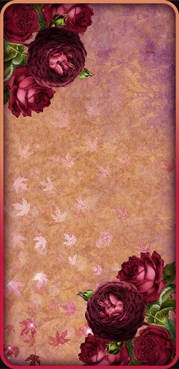 Burgandy Floralg