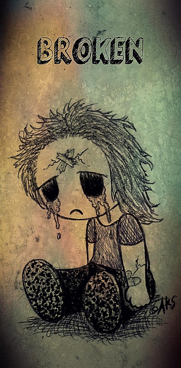 Broken Goth Doll