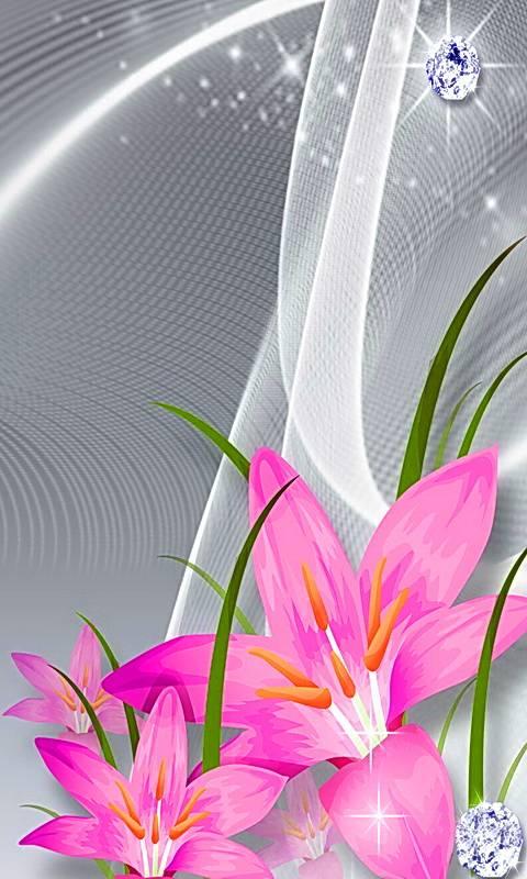 Pink Lilies Diamonds