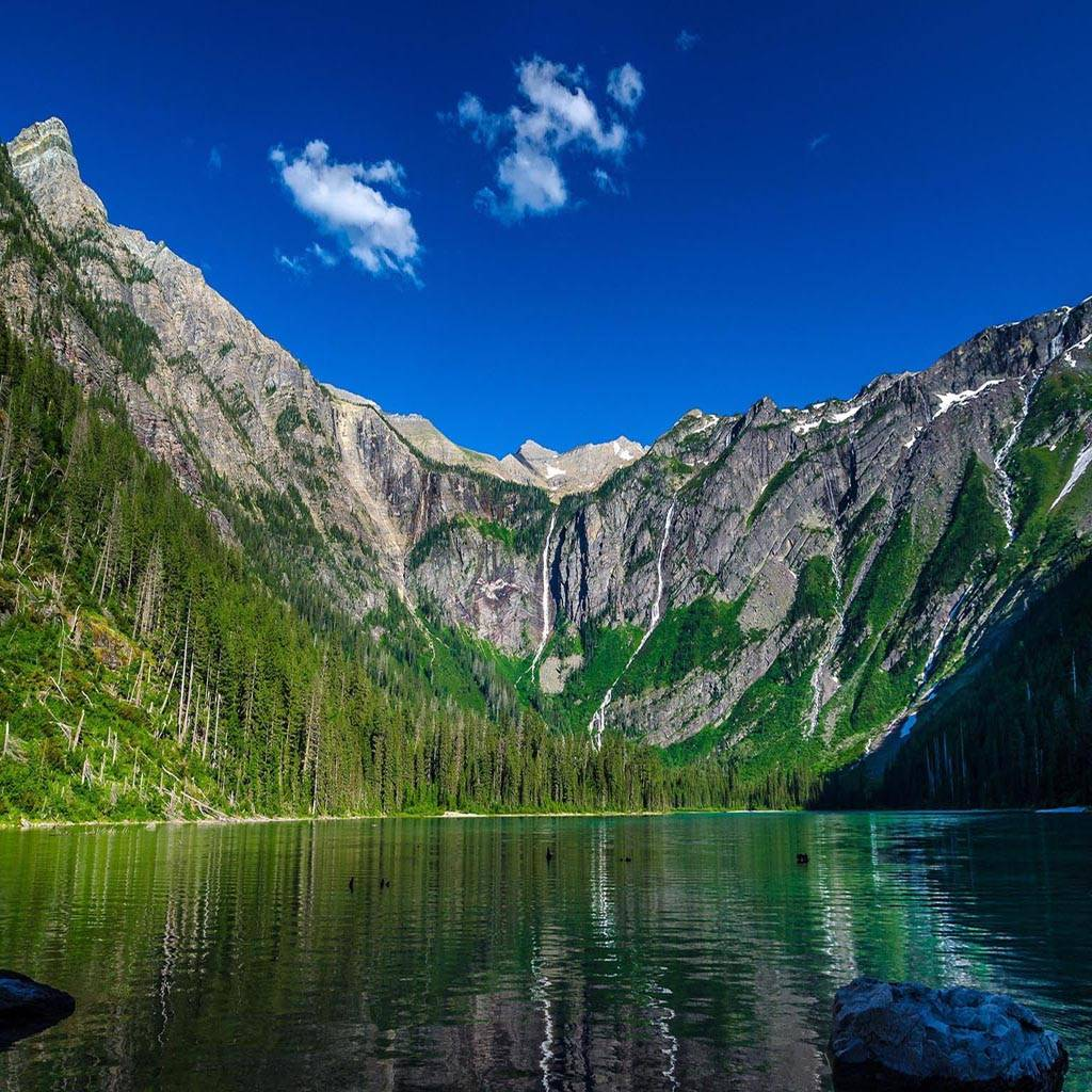 Lake mountain sky