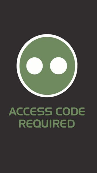 Access code required