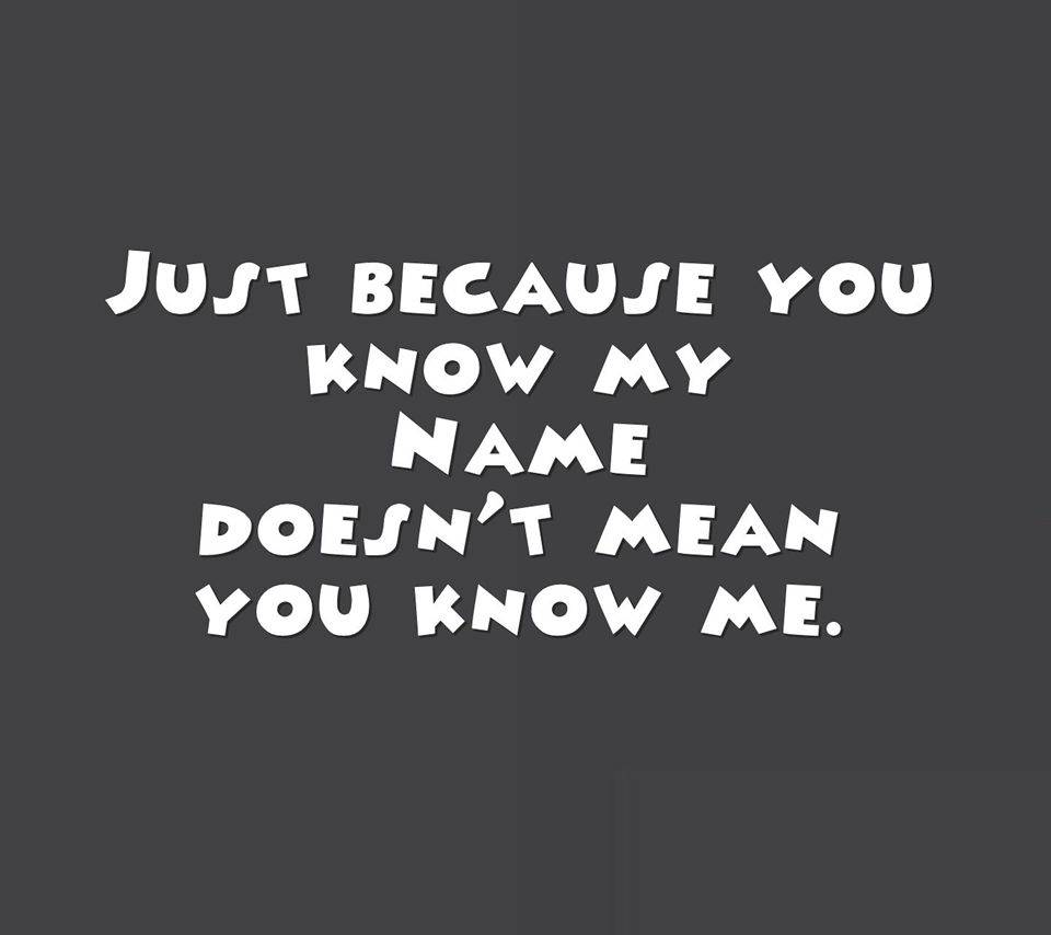 You Dont Know Me