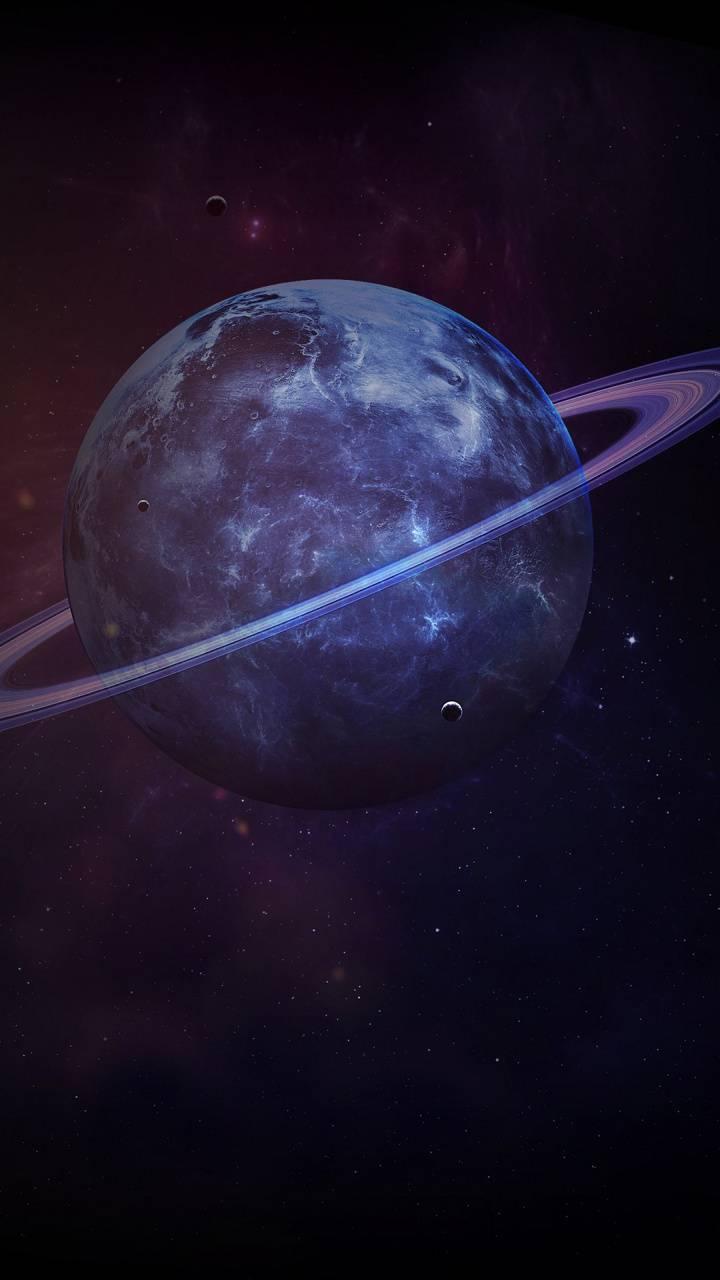 Saturn Planet Dark