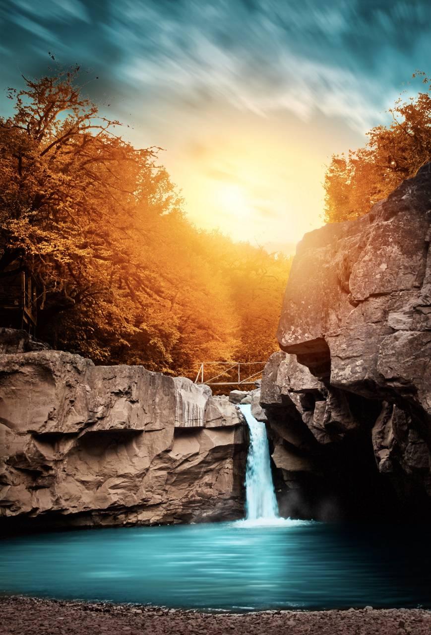 Autumn Waterfall HD