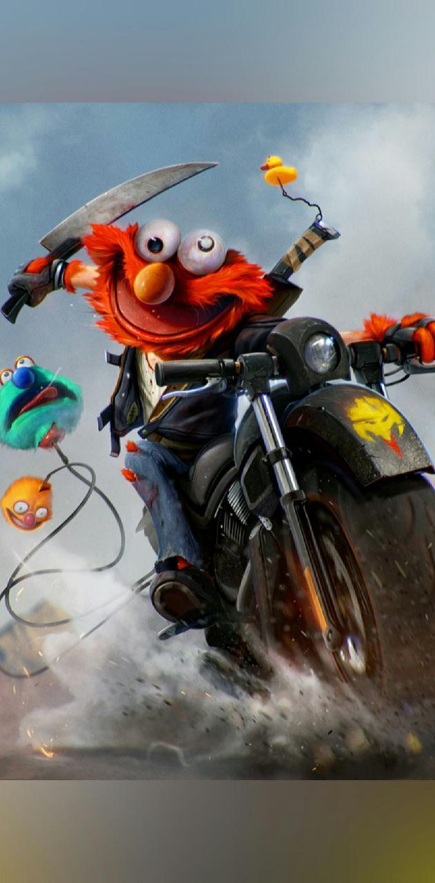 Elmo en Moto