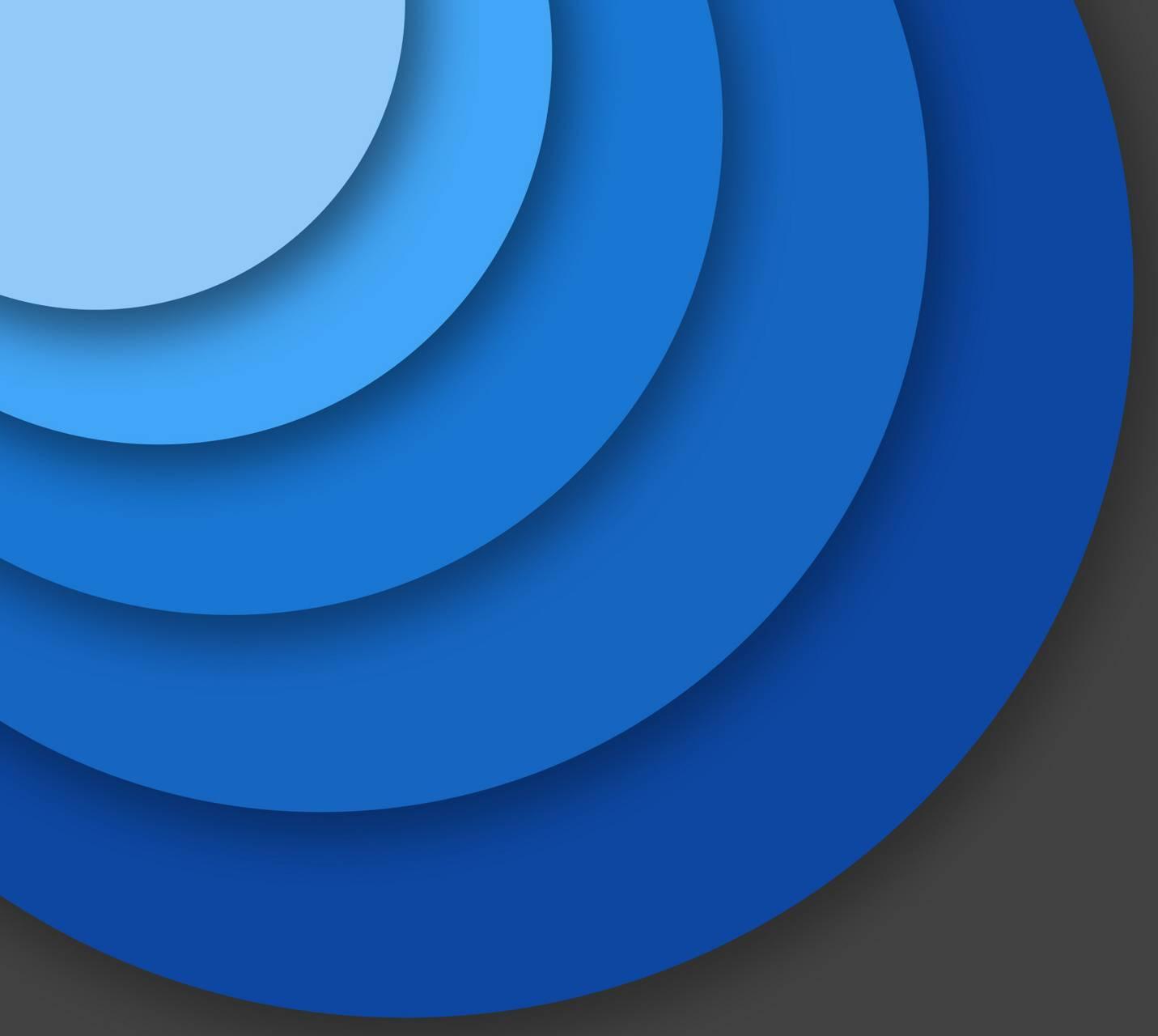 Blue Material Circle