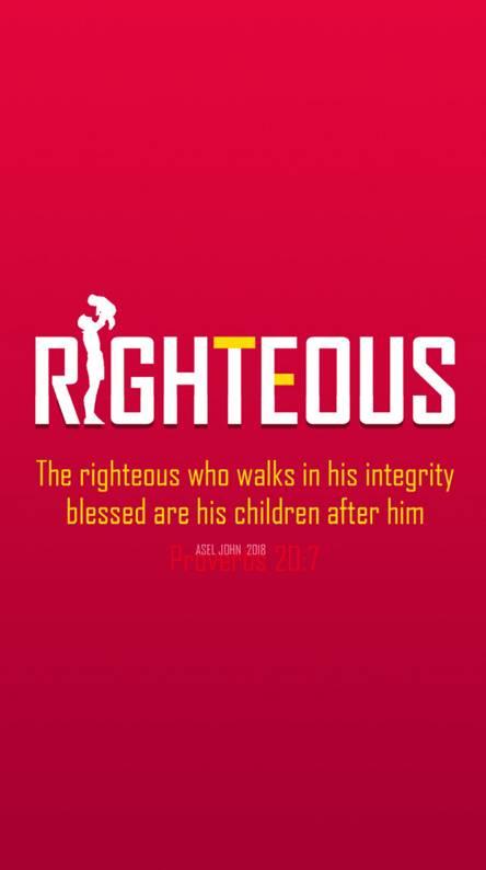 Proverbs 20 7
