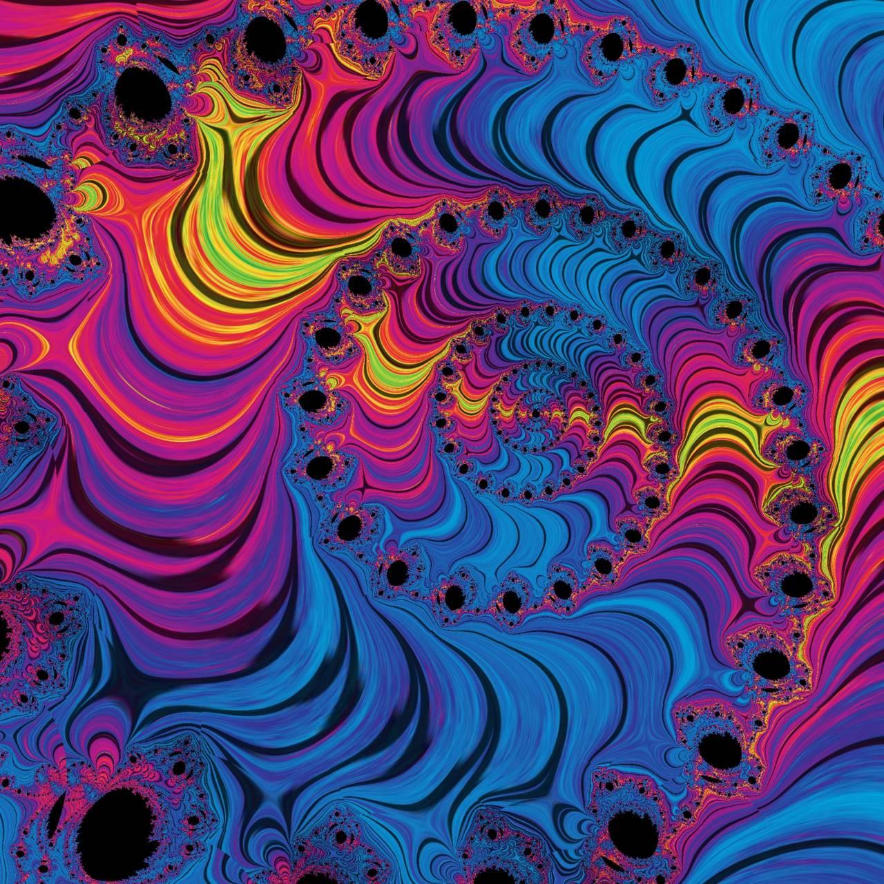 Neon Fractal Spiral