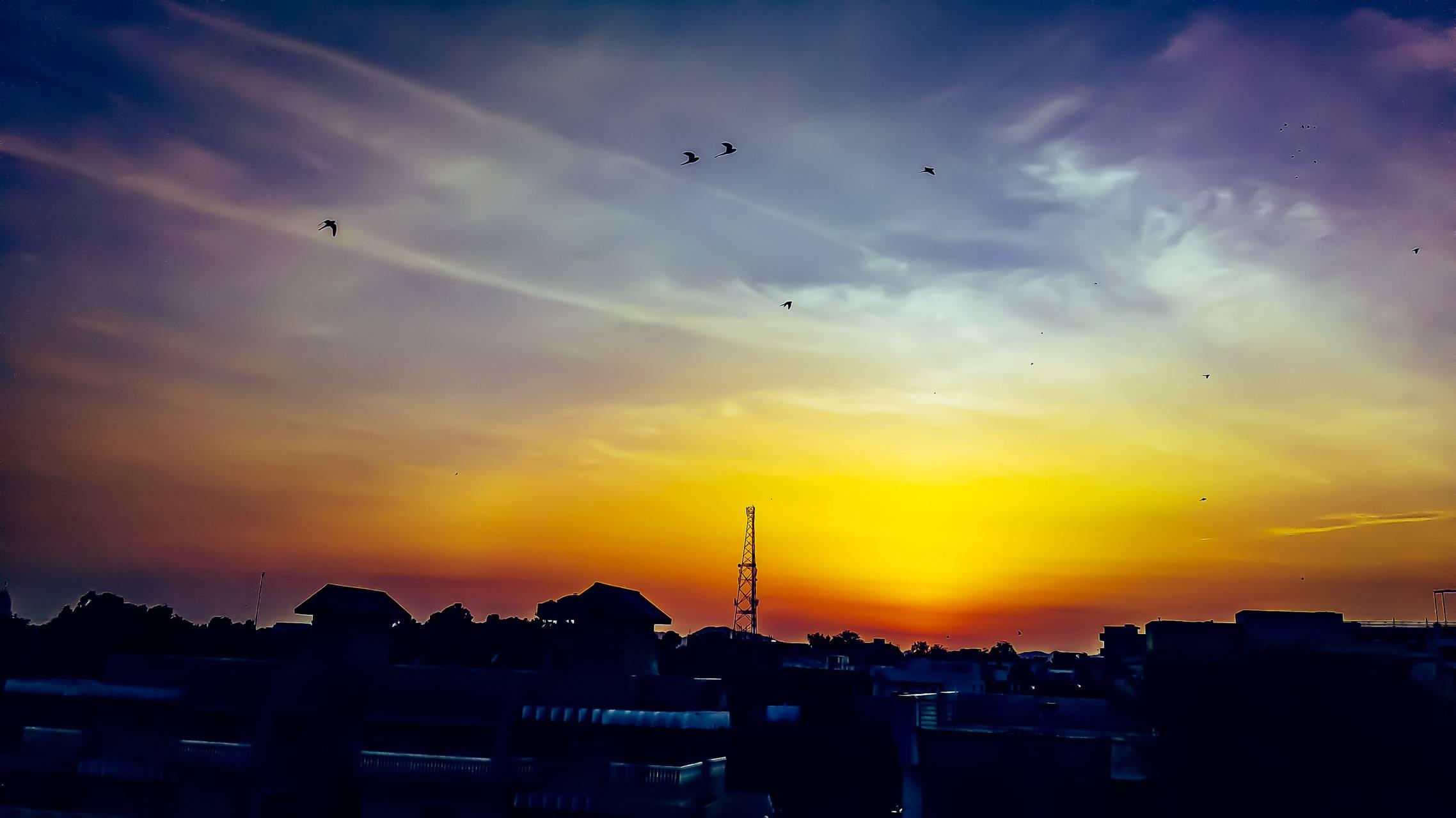 Gleeming sunset