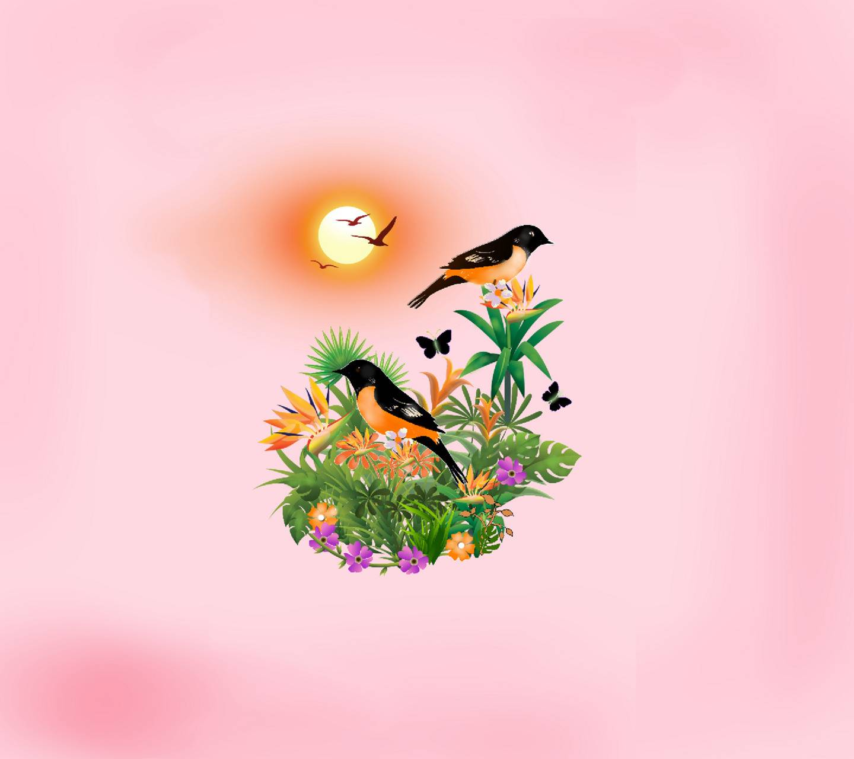 Bird flower 14