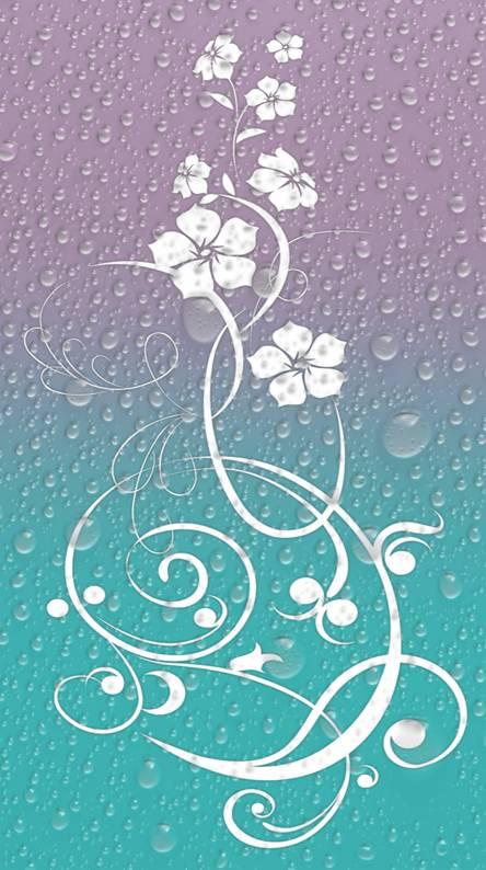 flowers bubble