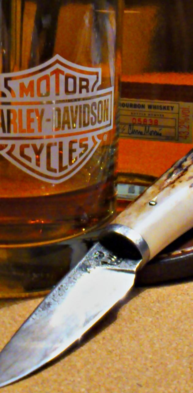 Knife With Bourbon