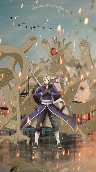 Obito and ten tails