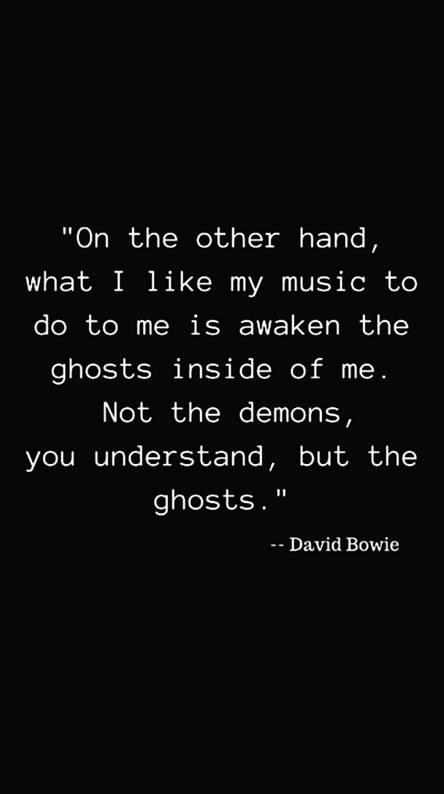 David bowie qoute