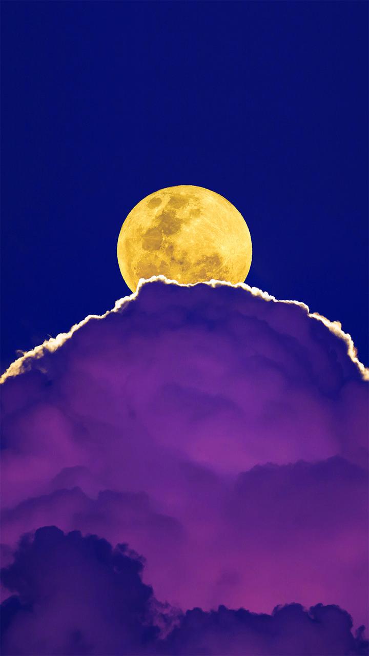 Cloud Purple Moon