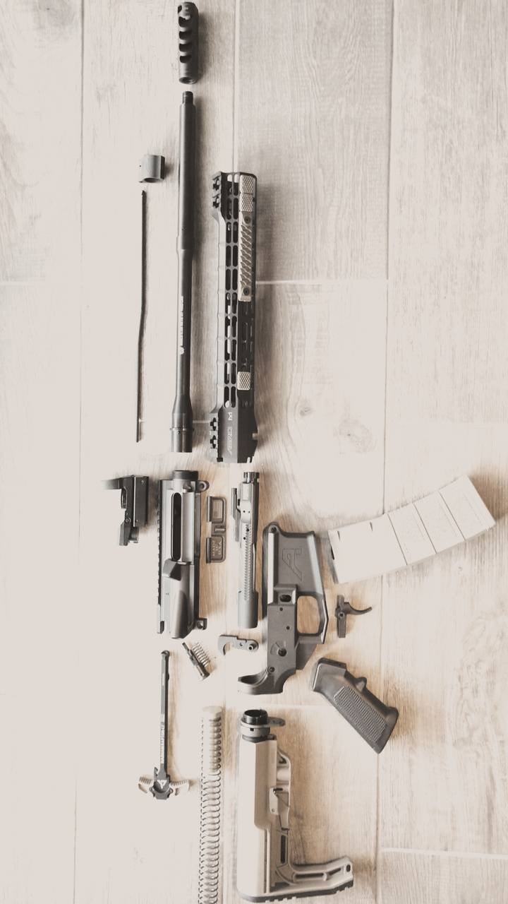 AR15 Exploded Washed