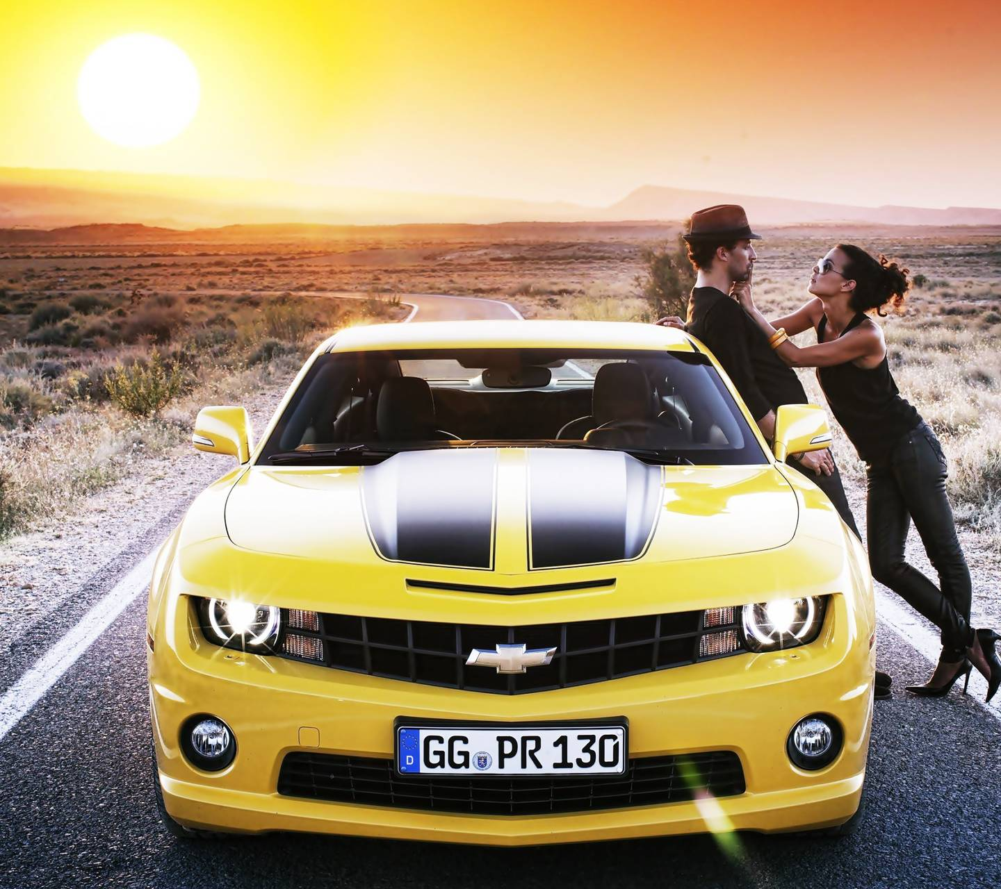 Camaro With Couple
