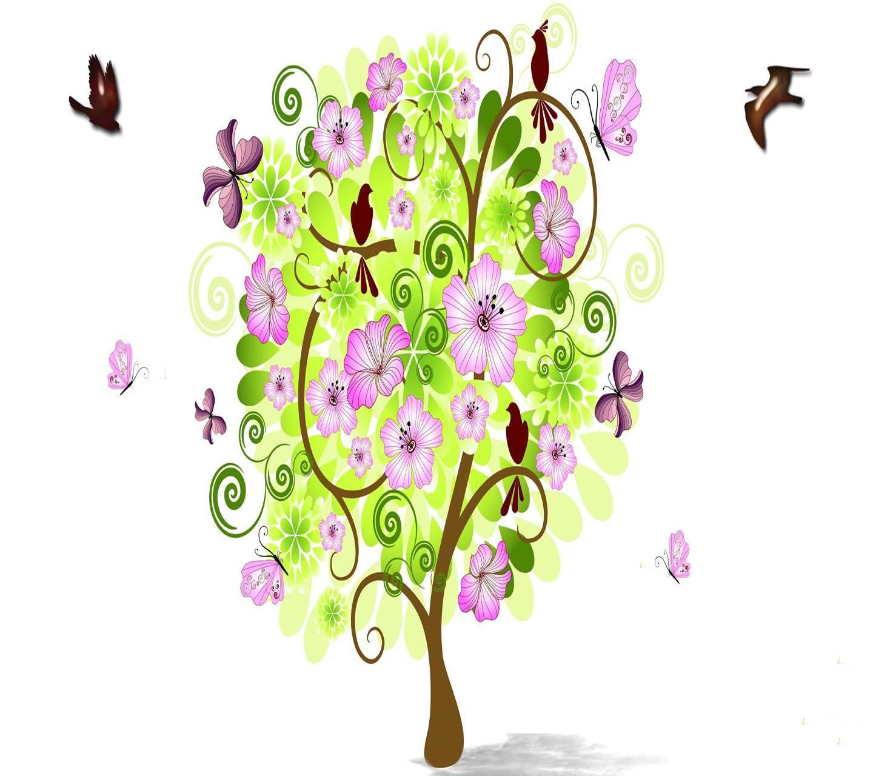 Floral  Flowers Tree
