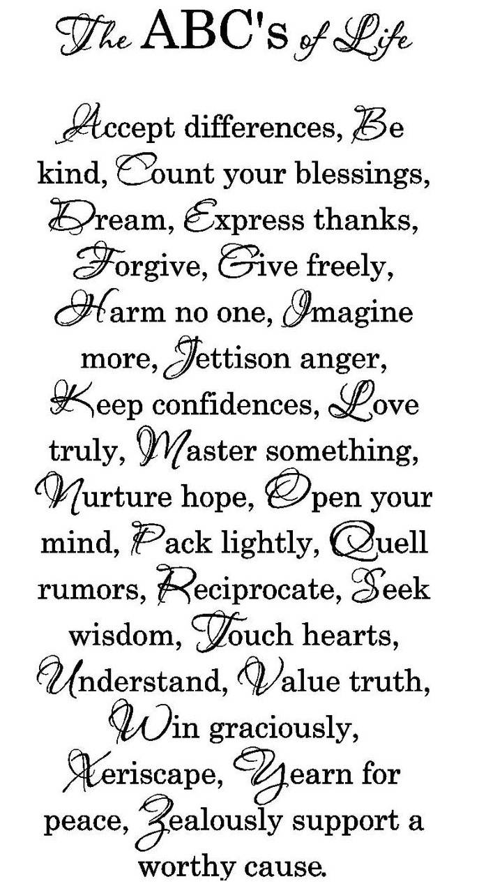 The Abc Of Life
