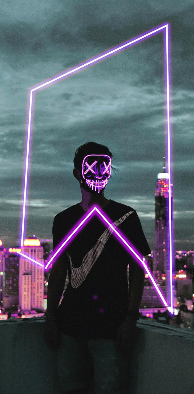 neon mask nike