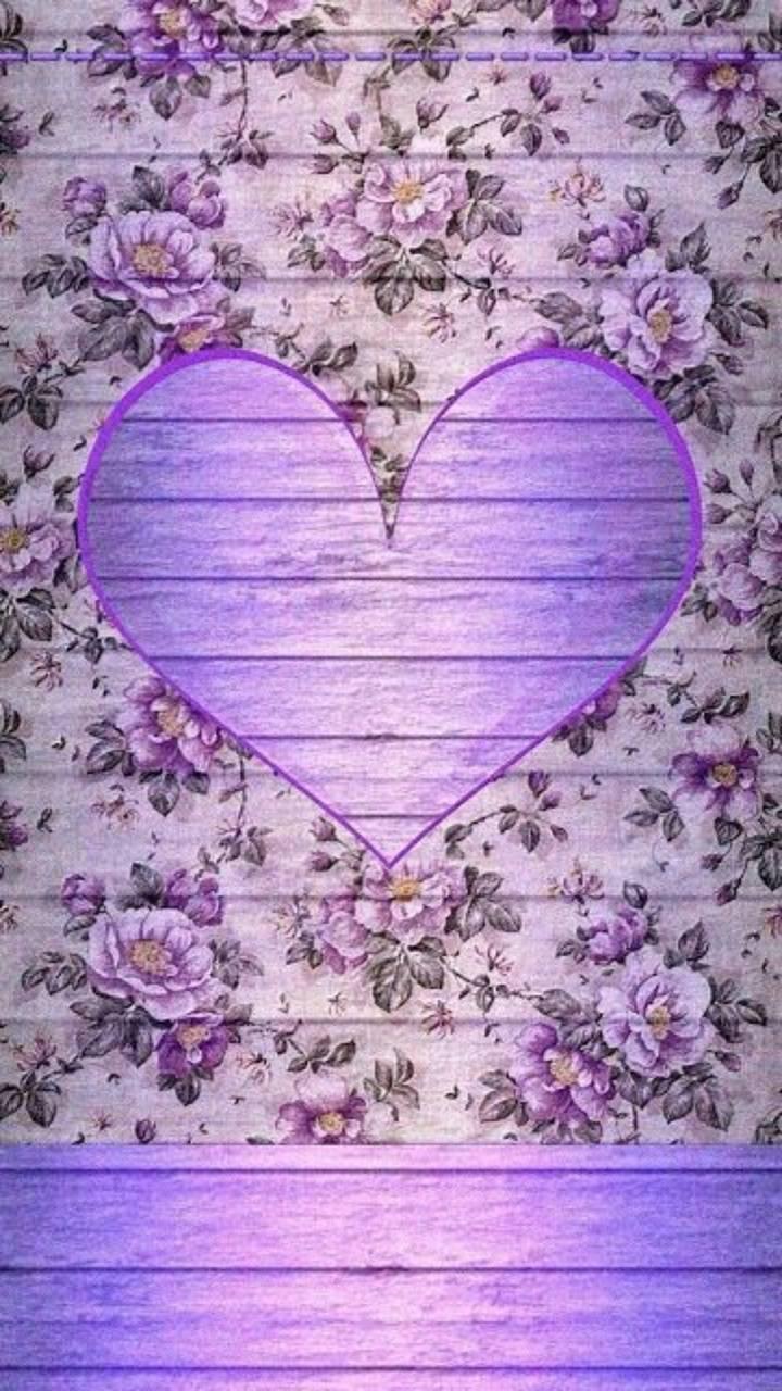 Purple Rose Heart 1