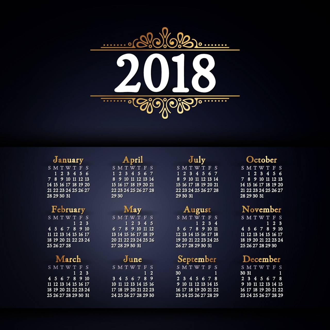 Calendar 2018 Wallpaper By Husnain55 2c Free On Zedge