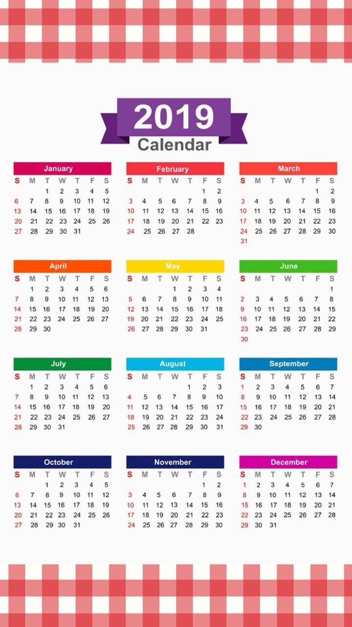 2019 Calendar v7