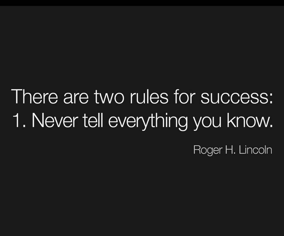 Rules For Success