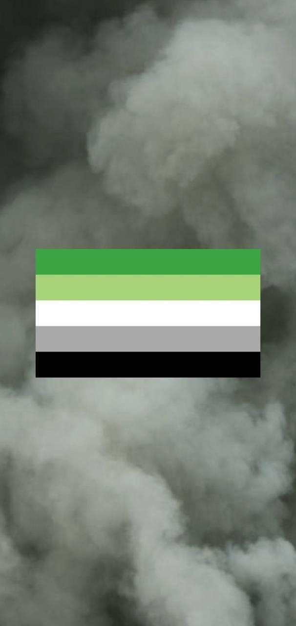 Aromantic Flag Smoke
