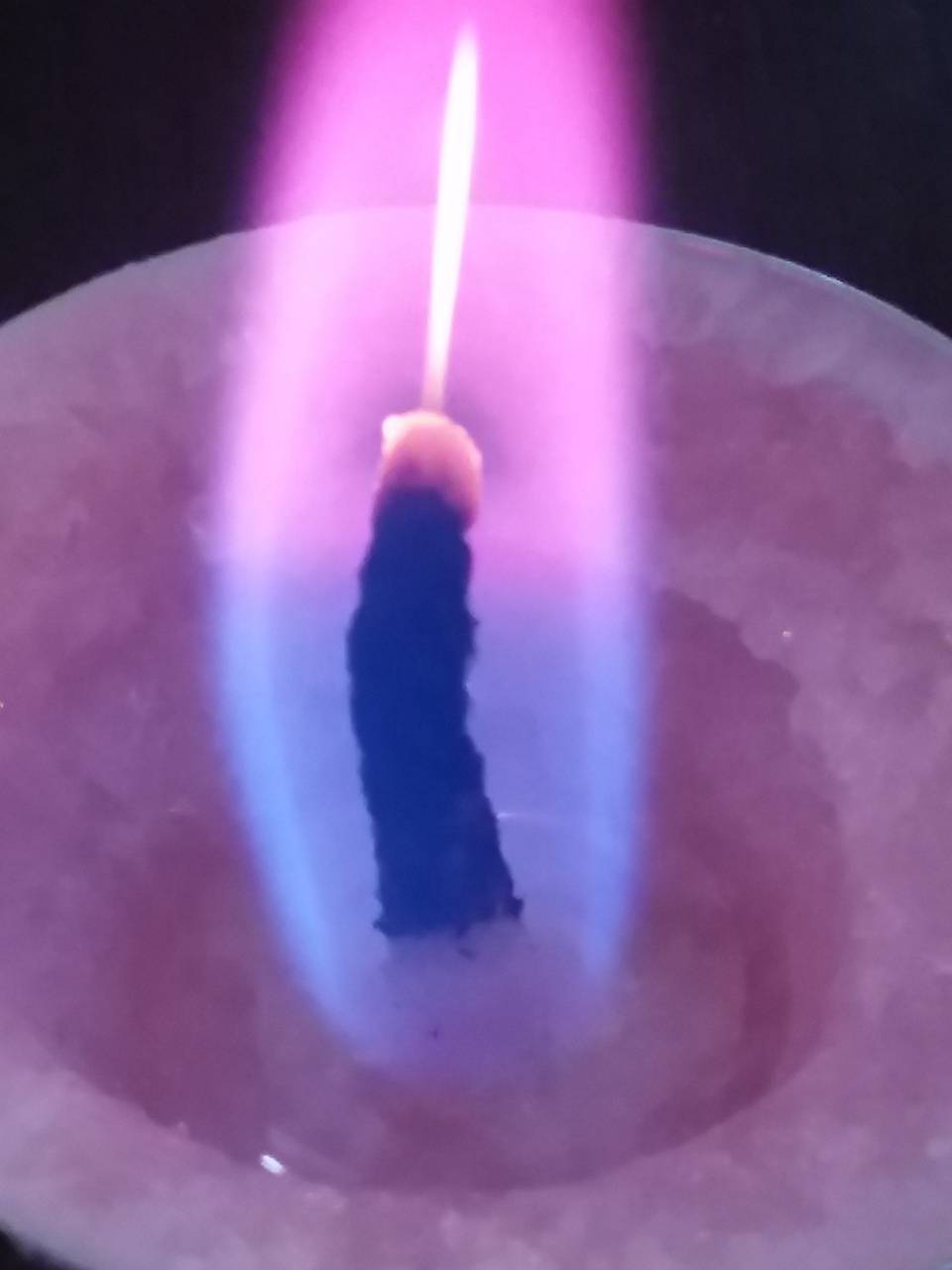 The colorful candle